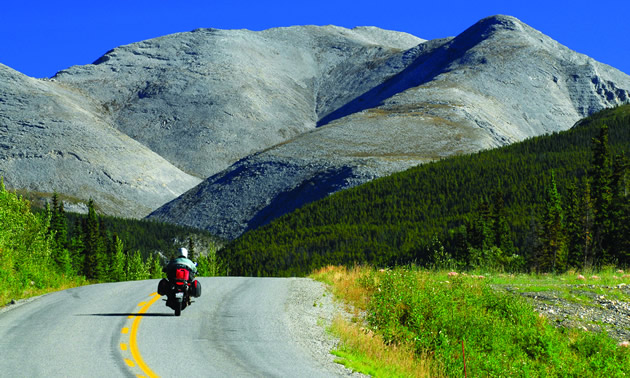 Taking your motorcycle on the Deh Cho Route is an amazing experience.