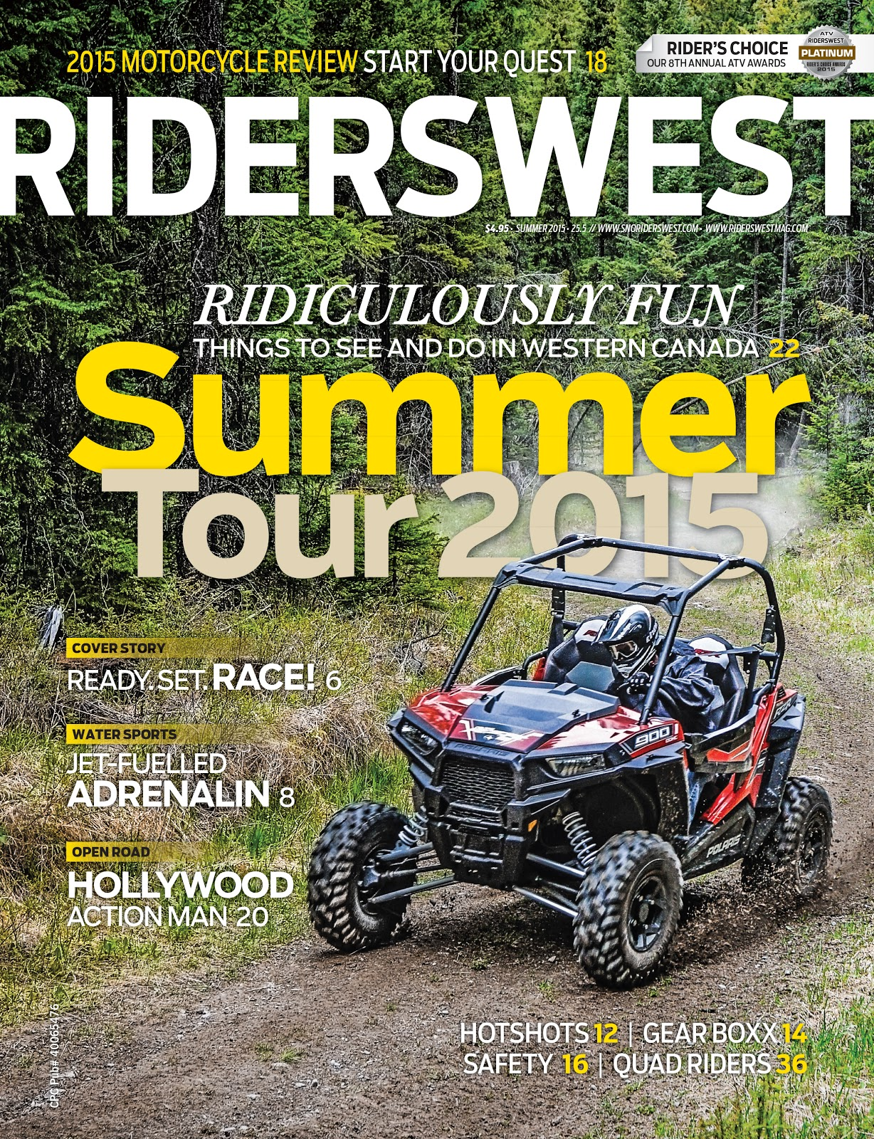 RidersWest Summer 2015 Cover