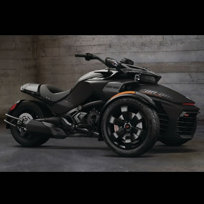 Picture of 2016 Can-Am Spyder F3-S Special Series motorcycle in Triple Black.