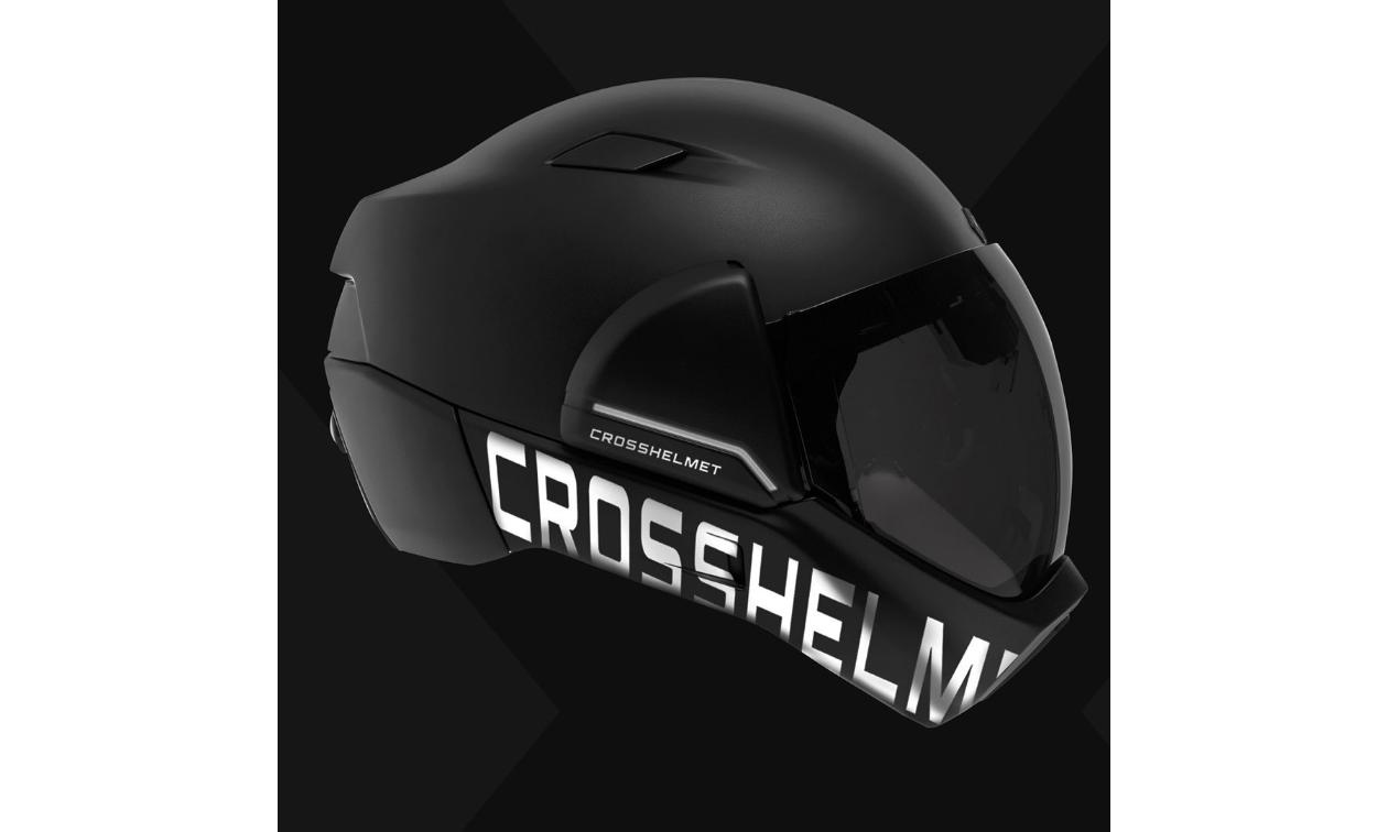 A black CrossHelmet.
