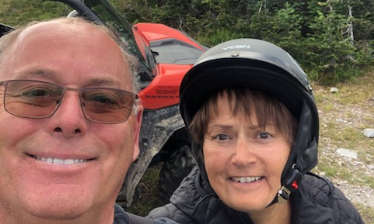 Frank and Cheryl Muhle from the Wells Wheels ATV Club make sure they snap a selfie at Yanks Peak.