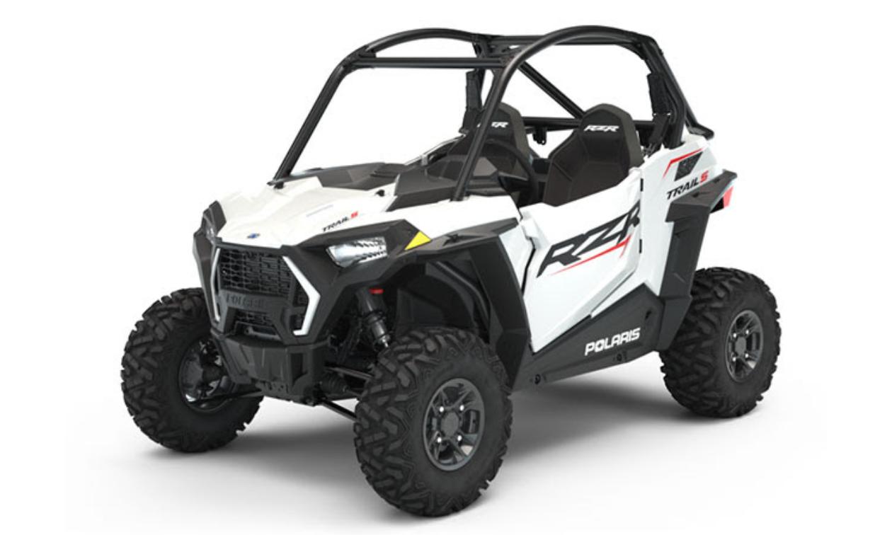White Polaris RZR Trail S 900 Sport