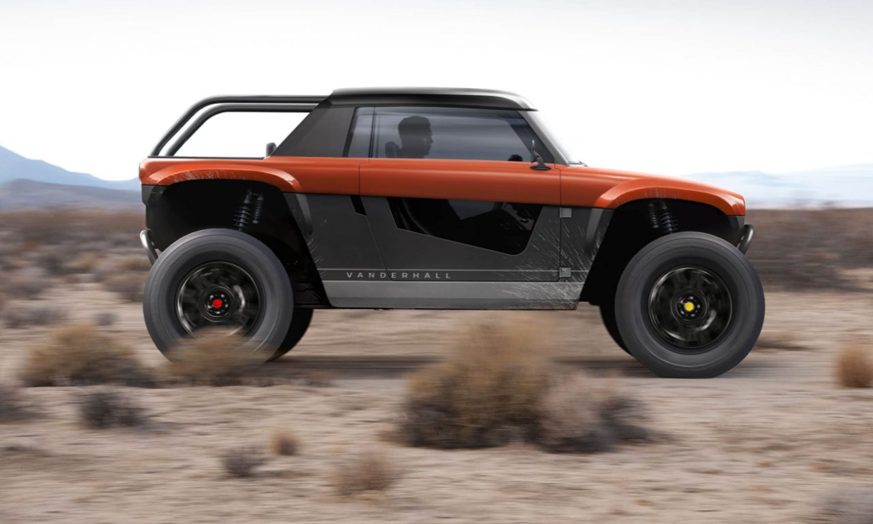 See-through doors are one of the unique features on Vanderhall's 4-wheel Navarro.