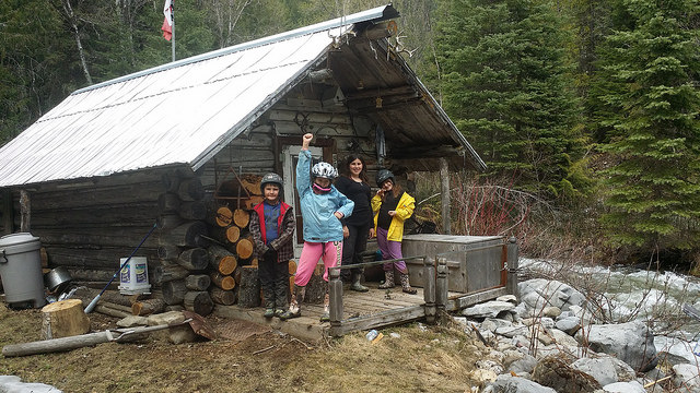 A cabin that the Ritchot family visits during a trip to the mountains
