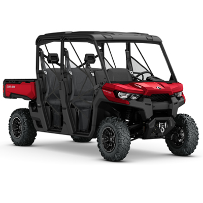 The 2017 Can-Am Defender MAX XT HD10 in Intense Red.