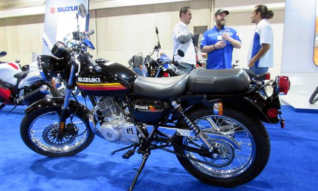 Vintage-style black motorcycle from Suzuki.