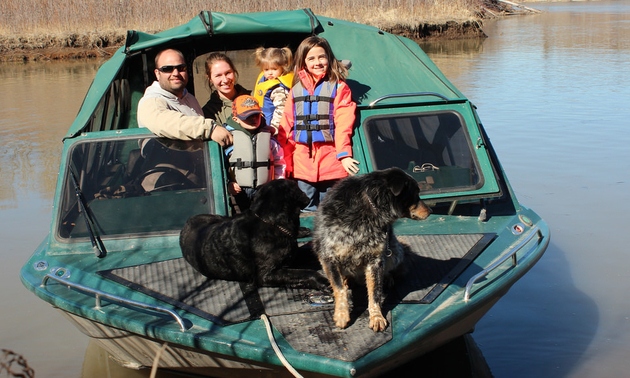 Jason and his family get out on the river as often as possible with the Peace Country River Rats.