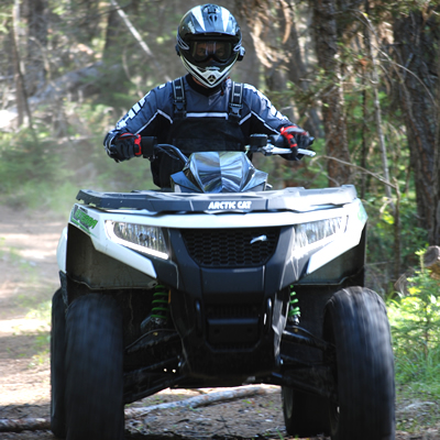 The Arctic Cat Alterra 700 XT in white.