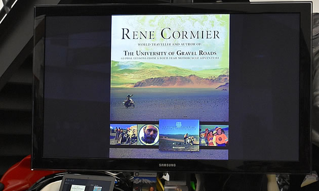 A photo of the cover of Rene Cormier's book.
