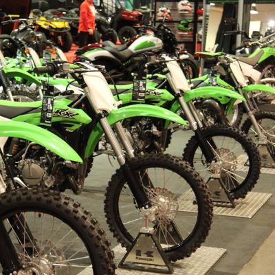 Kawasaki bikes.