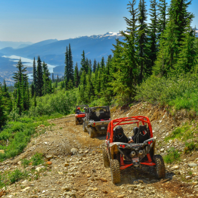 ATVs ride near Revelstoke.