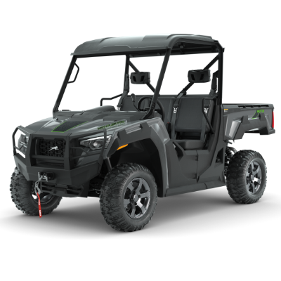 A stock photo of a green Arctic Cat Prowler Pro