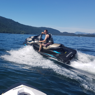 Paul Bain loves taking his Sea-Doo out on a variety of B.C. lakes.