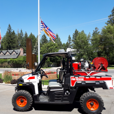 Cranbrook Fire & Emergency Services recently purchased a Bobcat side-by-side