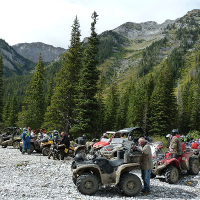 Members of the Crowsnest Pass Quad Squad enjoy riding in the Crowsnest Pass while they still can.