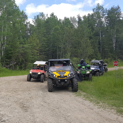Dawson Trail is an historic setting and a great place to quad.