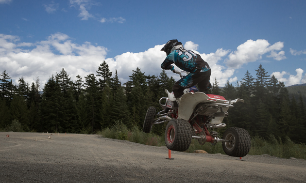 Christian Gagnon jumping his quad.