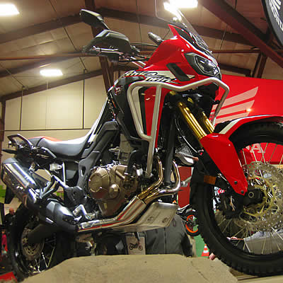 The new Red Africa Twin motorcycle from honda.