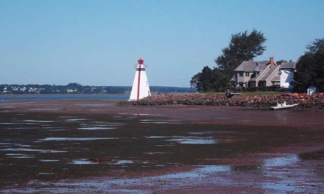 Low tide in Charlottetown.