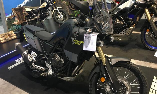 A black 2021 Yamaha Tenere.