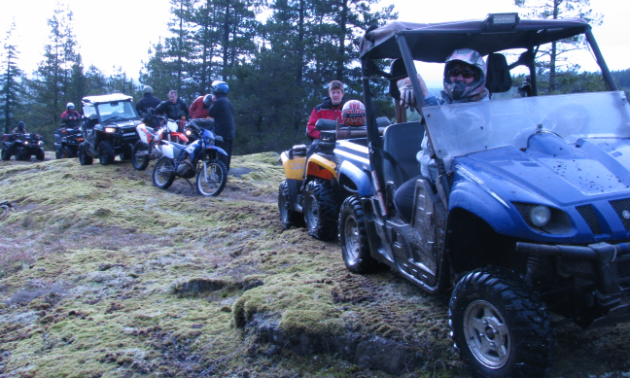 Graham Lindenbach, second vice-president of ATVBC, enjoys riding with his family around the Yellow Brick Road area near Campbell River. The location got its name from the labyrinth of rock bluffs covered with yellow moss.