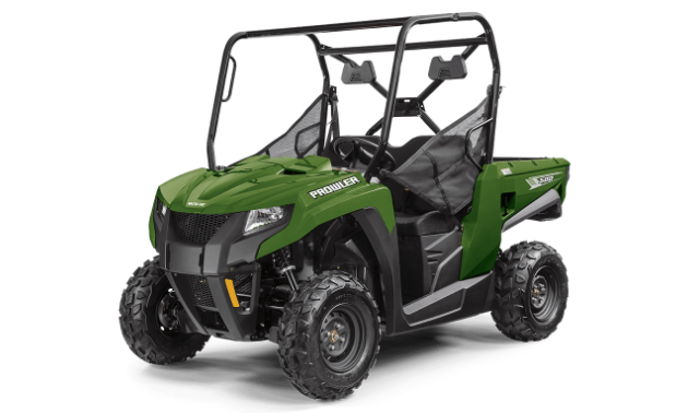 A green 2021 Arctic Cat Prowler 500 side-by-side.