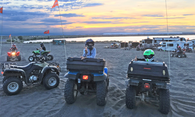 Kids have a great time at Moses Lake Mud Flats and Sand Dunes in Washington.