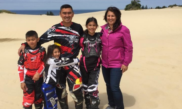 Tom Nguyen with his wife, Anna, and their children Amalia, Antonio and Alizabeth.