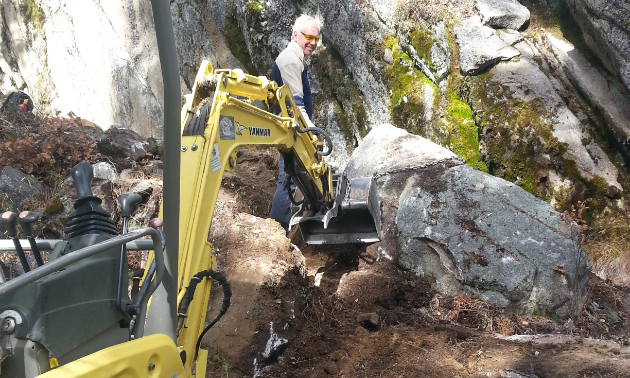 Mini excavators are necessary to build trails.