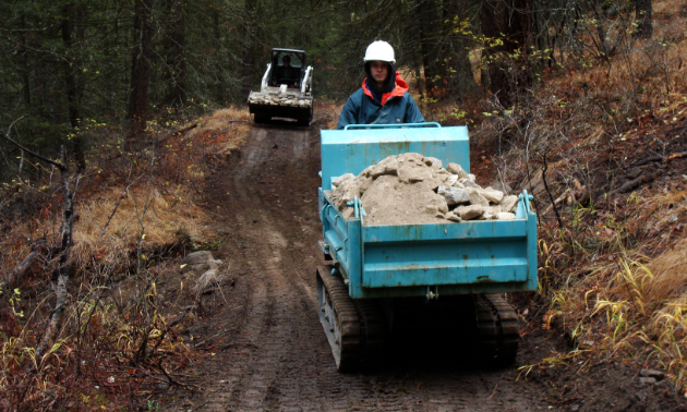 Whatever gets dug up is reused again within the Bear Creek Recreation Site.