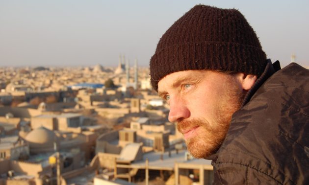 Jeremy Kroeker takes in the view of Yazd, Iran, atop the Amir Chakhmaq Complex in Yazd, Iran.