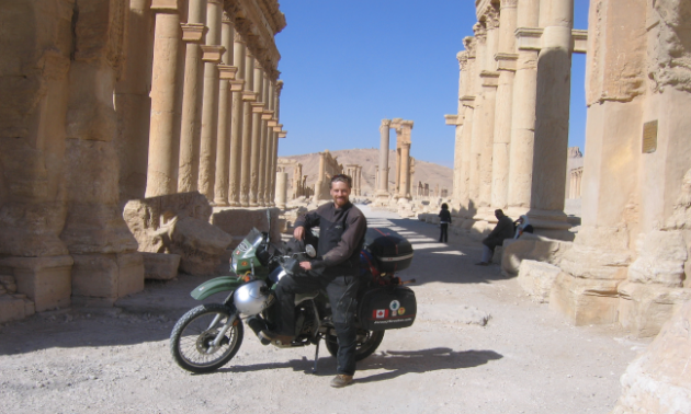 Jeremy Kroeker has crossed much of the world. This photo was taken in Palmyra, Syria.