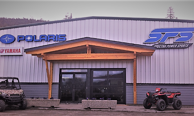 The Spectra Power Sports showroom in Williams Lake.