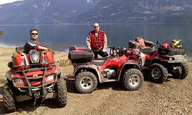 ATV parked beside Harrison lake, B.C.