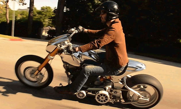 Keanu Reeves riding the new KRGT-1 from Arch Motorcycle Company
