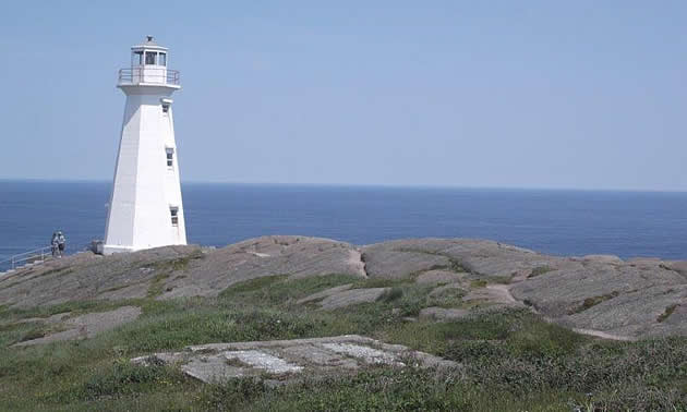 Lighthouse at Cape Spear, Newfoundland.