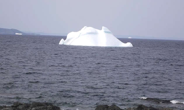 An iceberg floating at Twillingate, Newfoundland.