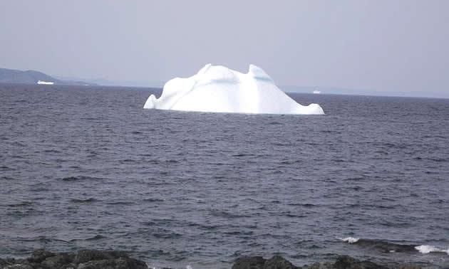 An iceberg floating at Twillingate, Newfoundland.