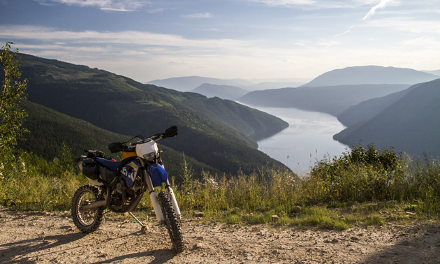 Photo looking down on the Antsey Arm of Shuswap Lake.
