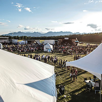 View of Hinton music fest