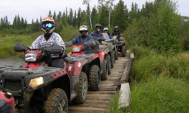 Group of ATV riders.