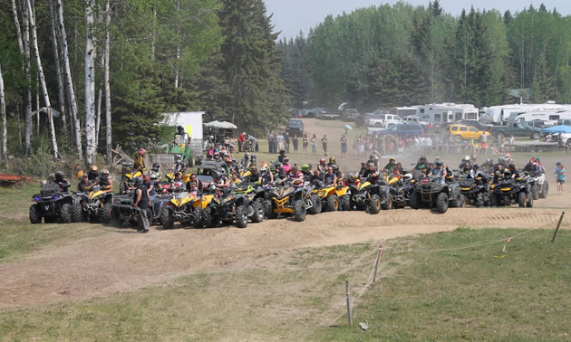 There's no shortage of riders for this annual event.