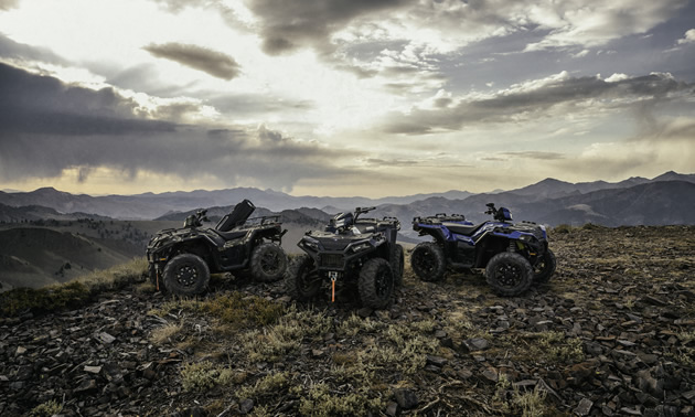 Polaris ATVs.