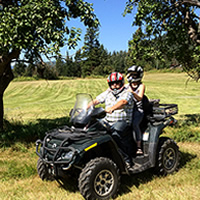 Eric Buckley, Nicole Lind and Will Buckley enjoy quality family time quadding in the Pend d'Oreille region in B.C.