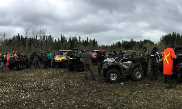 Timber Trails ATV Cooperative members out for a group ride.