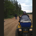 an ATV on a sandy trail