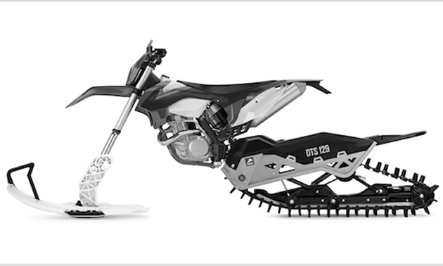 Camso DTS 129 dirt-to-snow bike conversion system.