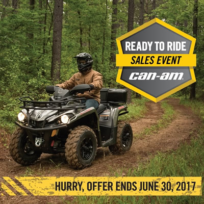 Can-Am Ready to Ride sales event ad