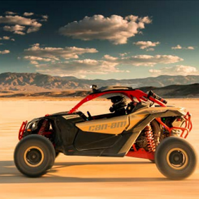Picture of Can-Am Maverick X3 in desert setting.