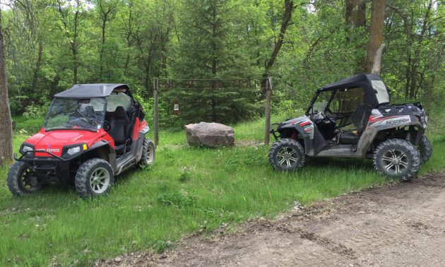 Duncan likes his side-by-side Polaris Razor S 800 EFI because his wife can drive while he enjoys the views.